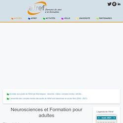 Neurosciences et Formation pour adultes