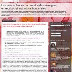 La culture de gouvernance à la française serait-elle un frein à la performance de l'entreprise ?