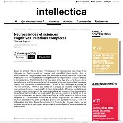Neurosciences et sciences cognitives : relations complexes
