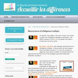 Neurosciences et intelligences multiples – Accueillir les différences