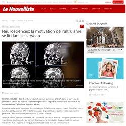 La motivation de l'altruisme se lit dans le cerveau