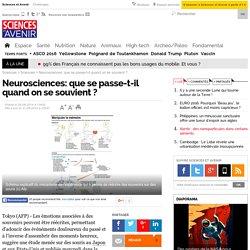 Neurosciences: que se passe-t-il quand on se souvient ? - 31 août 2014