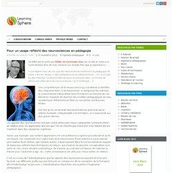 Pour un usage réfléchi des neurosciences en pédagogie
