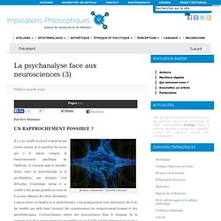 La psychanalyse face aux neurosciences (3