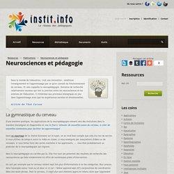 Neurosciences et pédagogie - Publications pédagogiques - Les sites web conseillés par Instit.info
