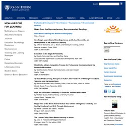 School of Education at Johns Hopkins University-News from the Neurosciences: Recommended Reading
