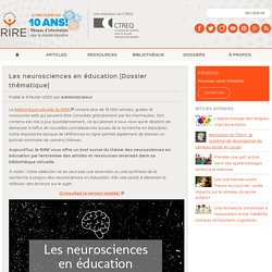 Les neurosciences en éducation [Dossier thématique]