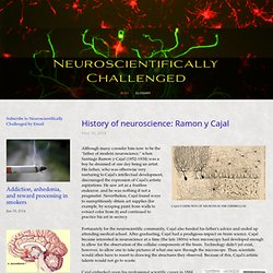 History of neuroscience: Ramon y Cajal — Neuroscientifically Challenged