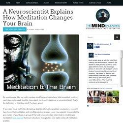 A Neuroscientist Explains How Meditation Changes Your Brain