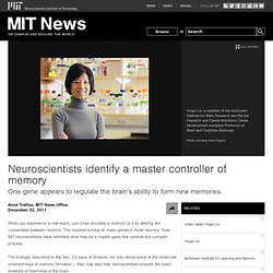 Neuroscientists identify a master controller of memory