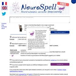 : neural automatic corrector (Deep Learning ...