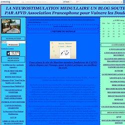 LA NEUROSTIMULATION MEDULLAIRE UN BLOG SOUTENU PAR AFVD Association Francophone pour Vaincre les Douleurs - Page 5 - LA NEUROSTIMULATION MEDULLAIRE UN BLOG SOUTENU PAR AFVD Association Francophone pour Vaincre les Douleurs