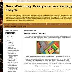 NeuroTeaching. Kreatywne nauczanie języków obcych. : SAMOPRZYLEPNE ZNACZNIKI