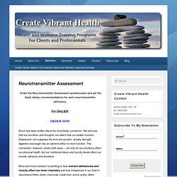 Neurotransmitter Assessment