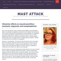 Histamine effects on neurotransmitters (serotonin, dopamine and norepinephrine) - Mast Attack