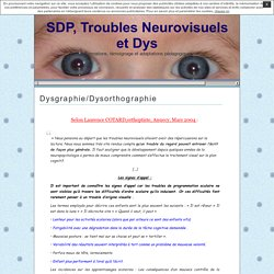 Dysgraphie/Dysorthographie