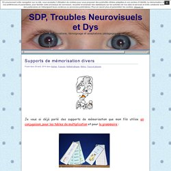 SDP, Troubles Neurovisuels et Dys » Supports de mémorisation divers