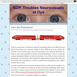 SDP, Troubles Neurovisuels et Dys » Train des Propositions
