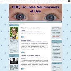 SDP, Troubles Neurovisuels et Dys » Résultats de recherche » carte mentale