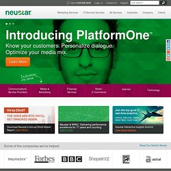 Neustar | Mobile Messaging, DNS and Registry Services for Global Communications