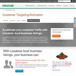 Local Business Search | Localeze.com | <strong>News Release:</strong> Localeze to Provide Business Listings for Facebook Places
