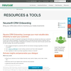 CRM Data Onboarding Solution Sheet