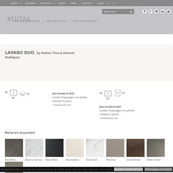 Lavabo Duo - Neutra Design