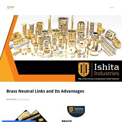 Advantages of Brass Neutral Link