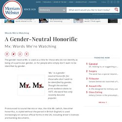 A Gender-Neutral Honorific