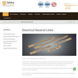 Top Brass Neutral Links Manufacturer in India