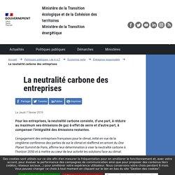 La neutralité carbone des entreprises