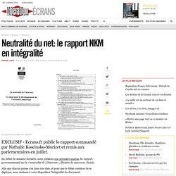 Neutralité du net : le rapport NKM en intégralité