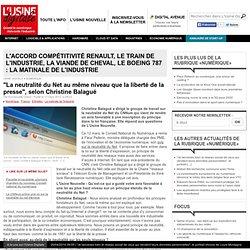 """""""La neutralité du Net au même niveau que la liberté de la presse"""", selon Christine Balagué"""