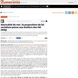 Neutralité du net : la proposition de loi socialiste pense aux boîtiers des FAI - Numerama