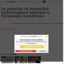 Le principe de neutralité technologique appliqué à l'économie numérique, Transformation digitale