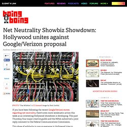Net Neutrality Showbiz Showdown: Hollywood unites against Google/Verizon proposal