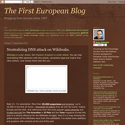 suso baleato: Neutralizing DNS attack on Wikileaks.