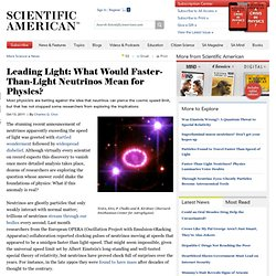 Leading Light: What Would Faster-Than-Light Neutrinos Mean for Physics?