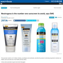 Neutrogena is the number one sunscreen to avoid, says EWG