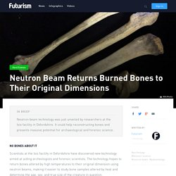 Neutron Beam Returns Burned Bones to Their Original Dimensions