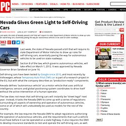Nevada Gives Green Light to Self-Driving Cars