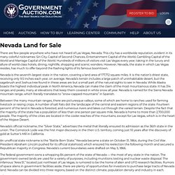 Buy Land For Sale In Nevada
