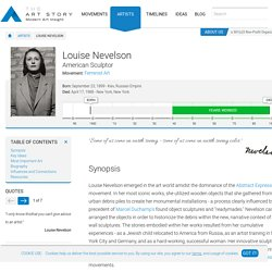 Louise Nevelson Biography, Art, and Analysis of Works