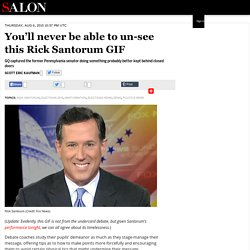 You'll never be able to un-see this Rick Santorum GIF
