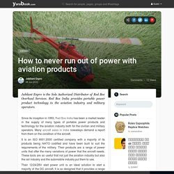 How to never run out of power with aviation products