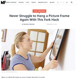 Never Struggle to Hang a Picture Frame Again With This Fork Hack