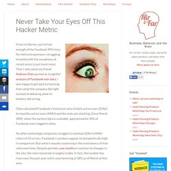 Never Take Your Eyes Off This Hacker Metric