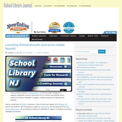 Joyce's Blog Post about SchoolLibraryNJ (and some models beyond) - NeverEndingSearch