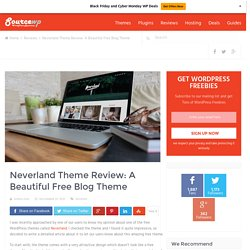 Neverland Theme Review: A Beautiful Free Blog Theme