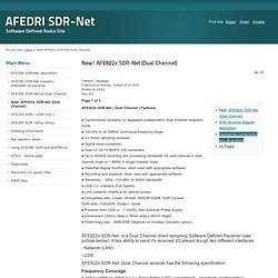 New! AFE822x SDR-Net (Dual Channel)